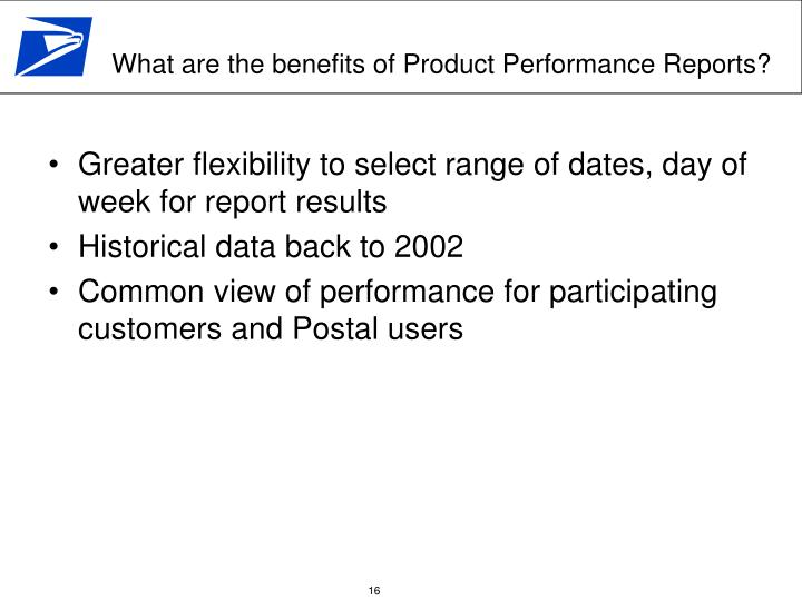 Greater flexibility to select range of dates, day of week for report results