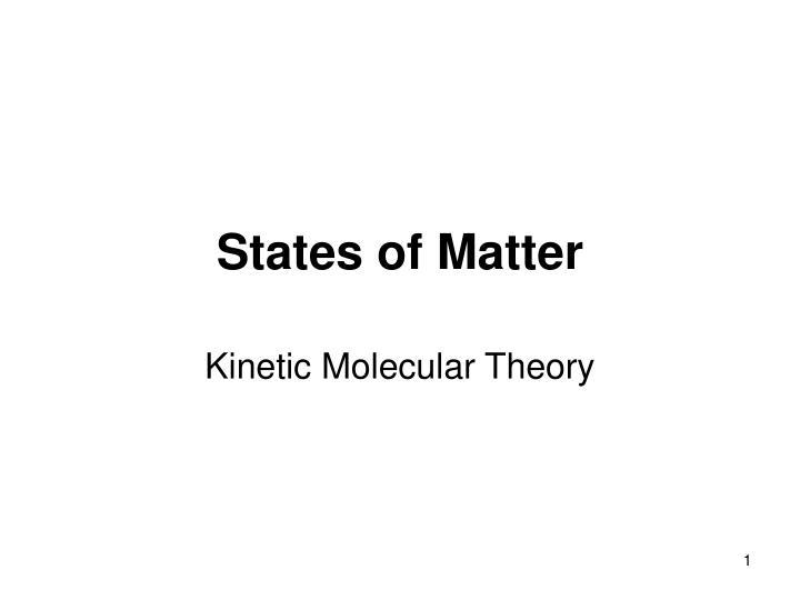 states of matter n.