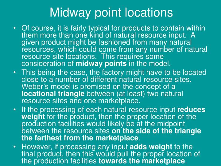 Of course, it is fairly typical for products to contain within them more than one kind of natural resource input.  A given product might be fashioned from many natural resources, which could come from any number of natural resource site locations.  This requires some consideration of