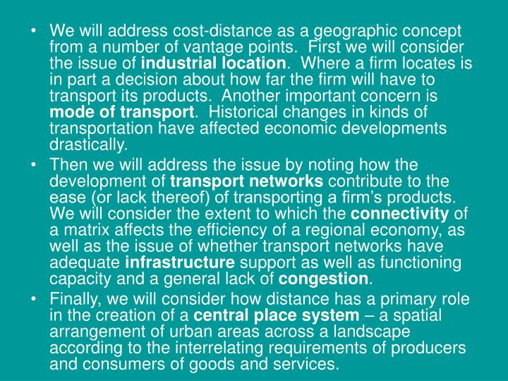 We will address cost-distance as a geographic concept from a number of vantage points.  First we wil...