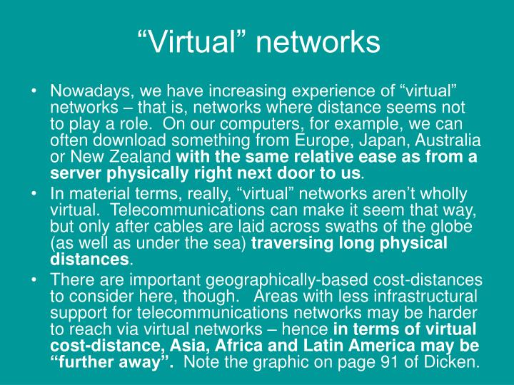 """""""Virtual"""" networks"""