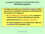 clasificacion de flujos de efectivo dividendos pagados