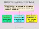 elementos de los estados contables