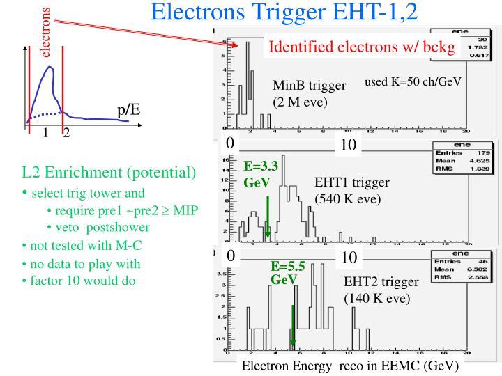Electrons Trigger EHT-1,2