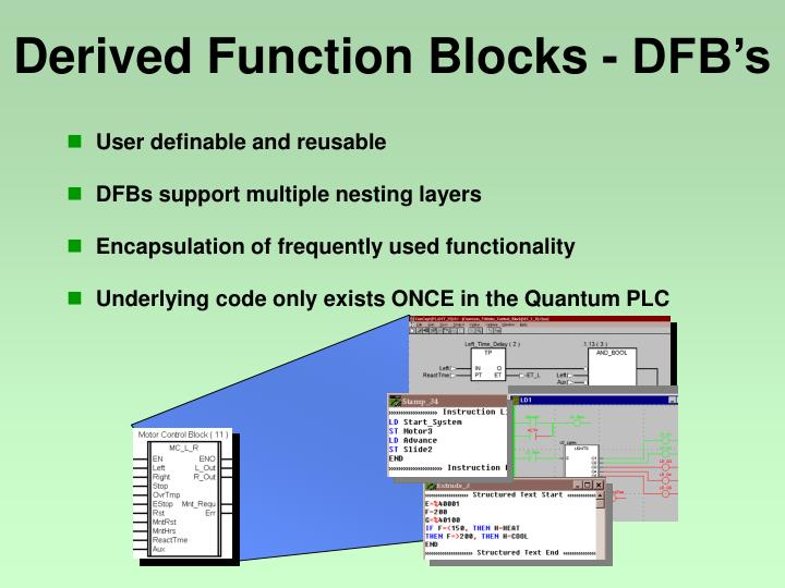 Derived Function Blocks - DFB's