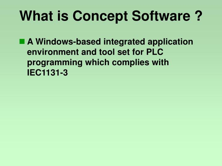 What is concept software