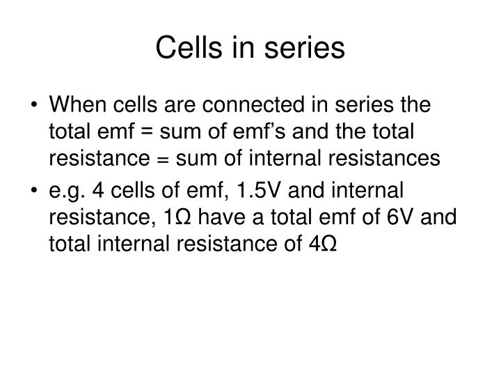 Cells in series