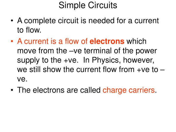 Simple Circuits