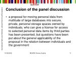 conclusion of the panel discussion5