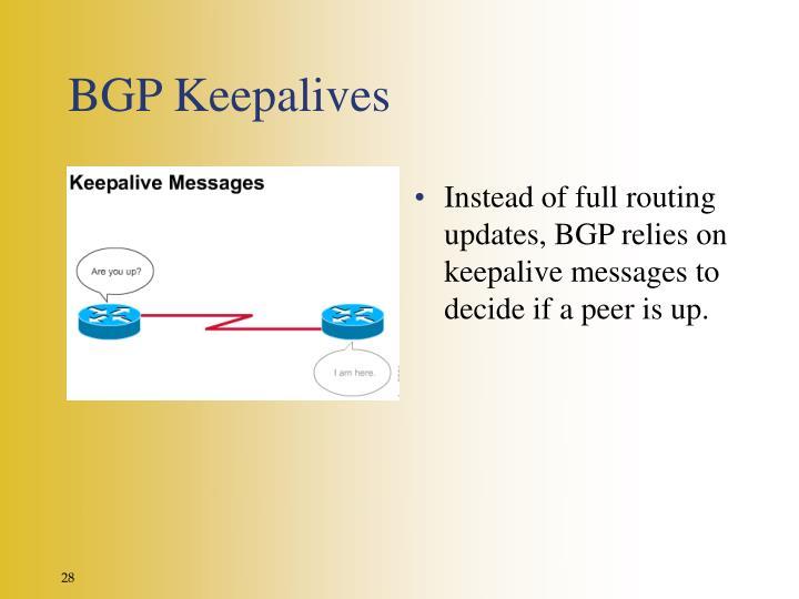 BGP Keepalives