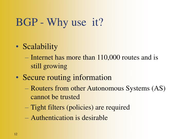 BGP - Why use  it?