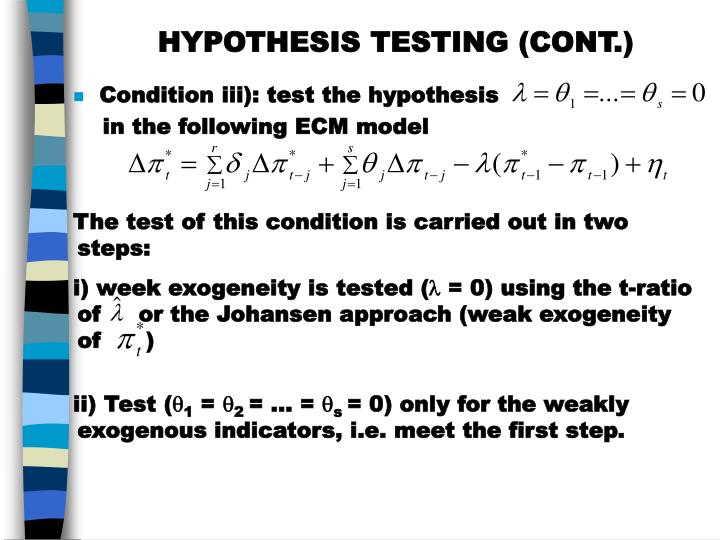 HYPOTHESIS TESTING (CONT.)