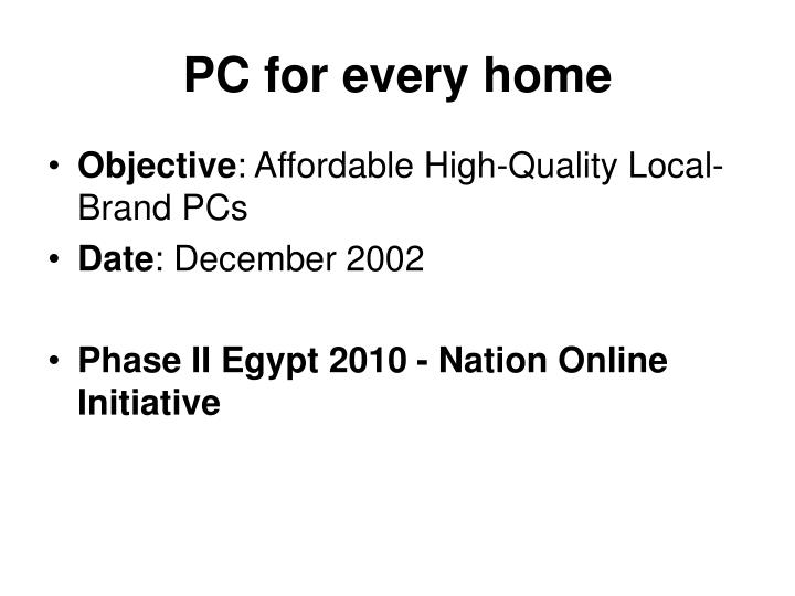 PC for every home