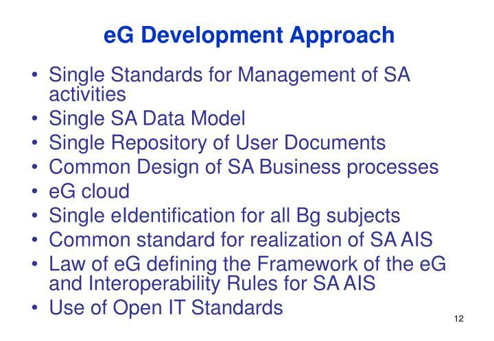 eG Development Approach