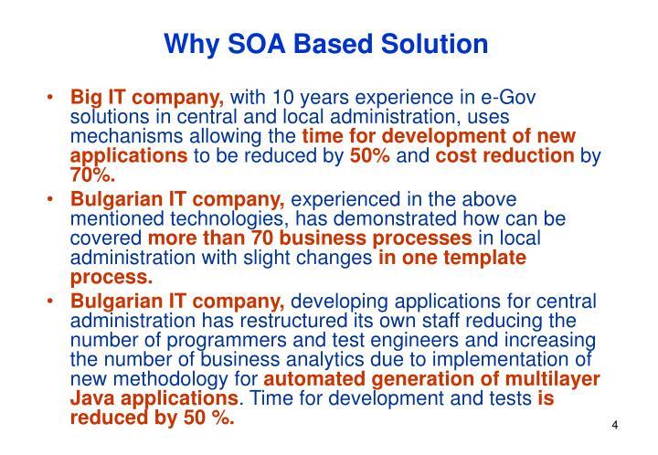 Why SOA Based Solution