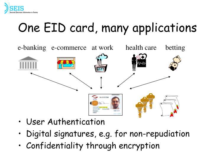 one eid card many applications n.