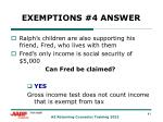 exemptions 4 answer