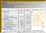 balance of payments and the exchange rate1