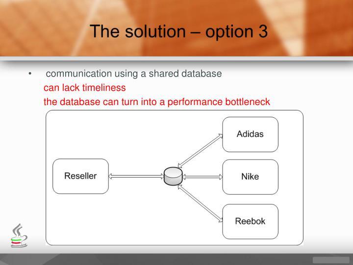 communication using a shared database