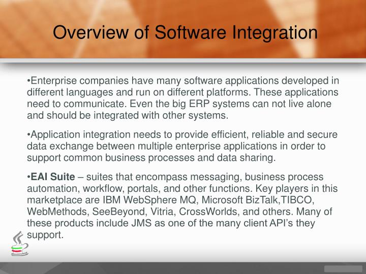 Overview of Software Integration