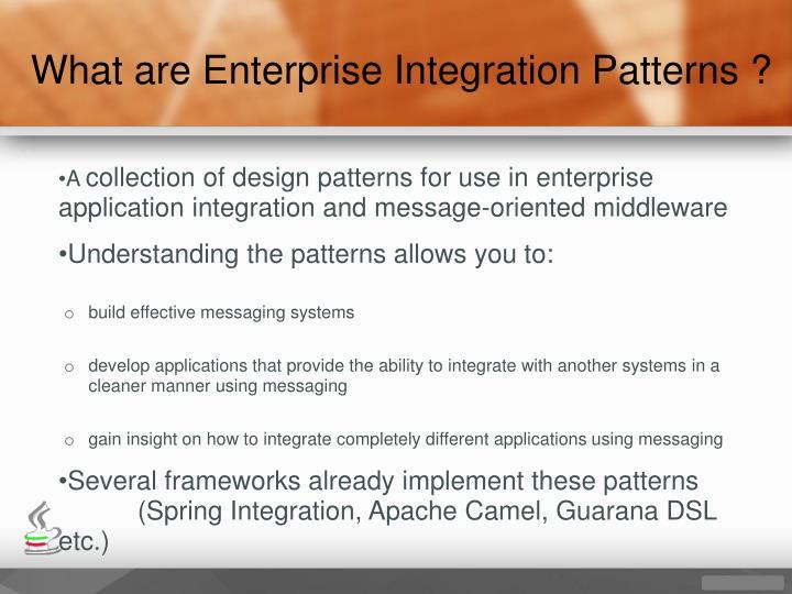 What are Enterprise Integration Patterns ?