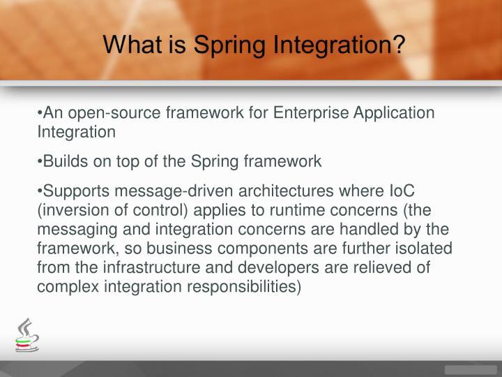 An open-source framework for Enterprise Application Integration