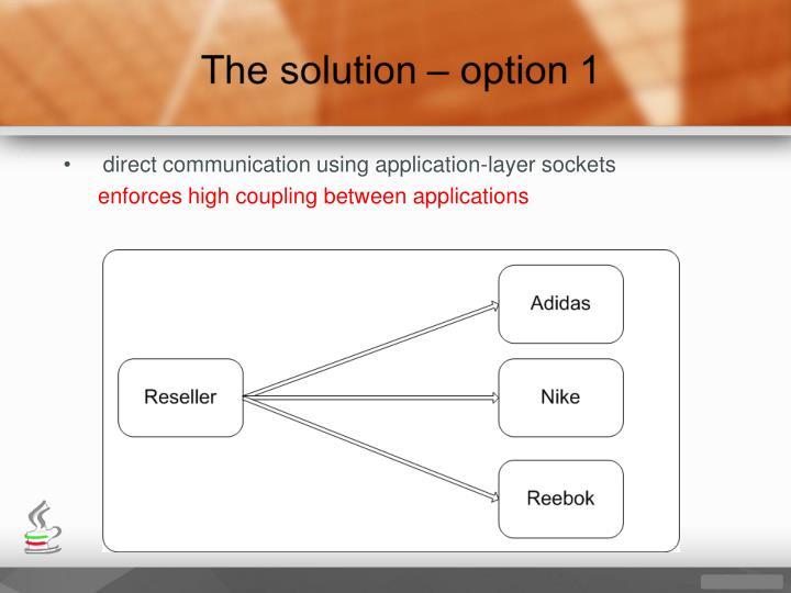 direct communication using application-layer sockets
