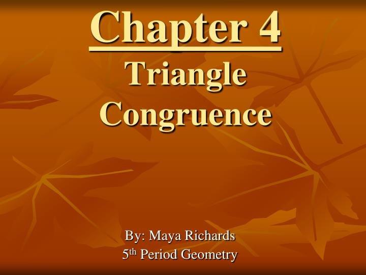 chapter 4 triangle congruence n.