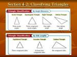 section 4 2 classifying triangles