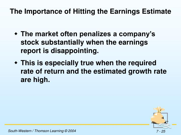 The Importance of Hitting the Earnings Estimate