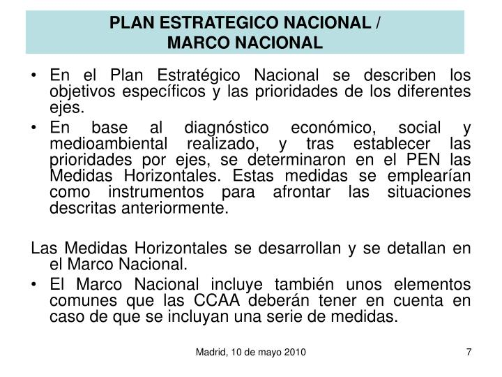 PLAN ESTRATEGICO NACIONAL /