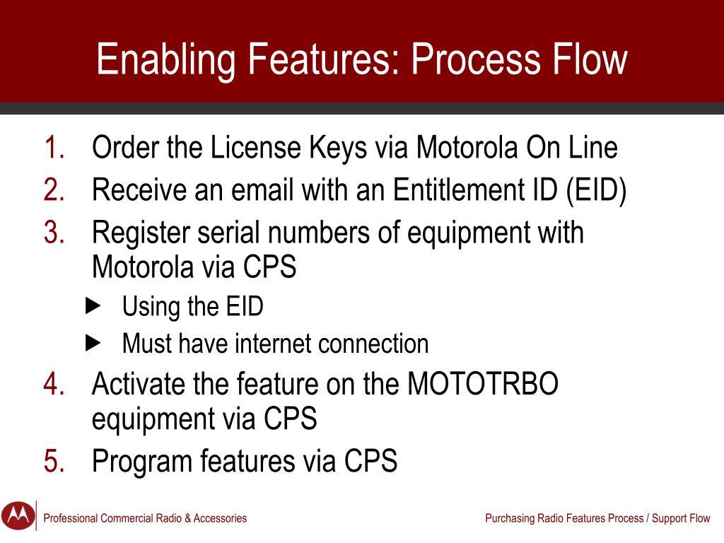 PPT - Dealer Training: Ordering MOTOTRBO Feature Keys PowerPoint