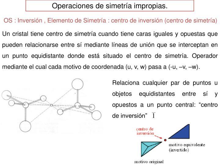 Operaciones de simetría impropias.