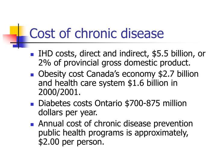 Cost of chronic disease