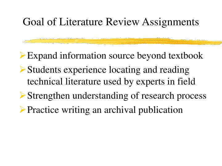 m2 literature review assignment Collecting literature that you want to review and analyze for potential use in your major literature review assignment can quickly become messy your goal this week is to find a process where you are able to organize your thoughts and keep track of the strengths and weaknesses of different studies.