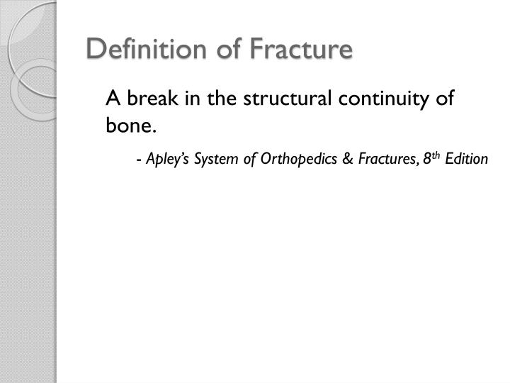 Definition of Fracture