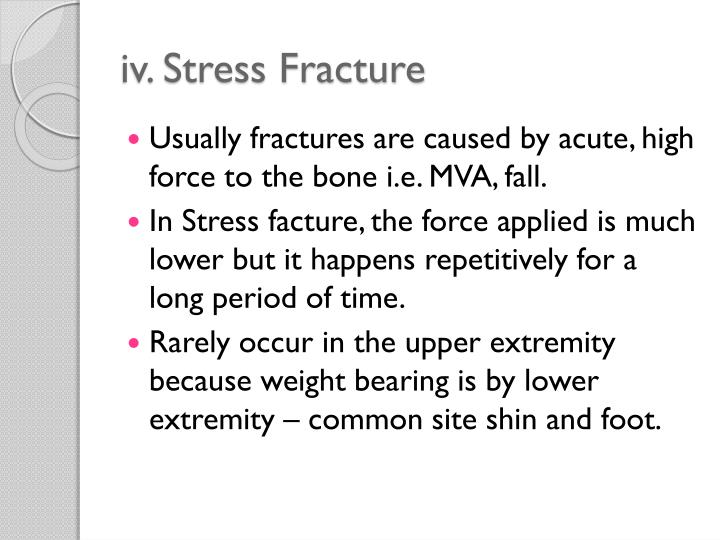 iv. Stress Fracture