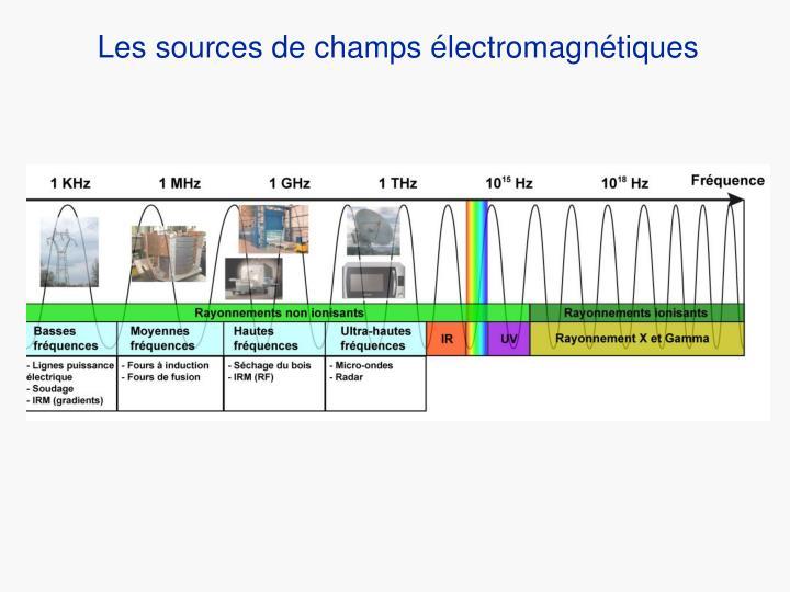 Les sources de champs électromagnétiques