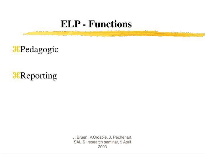 ELP - Functions