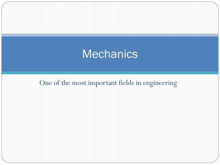 mechanics n.