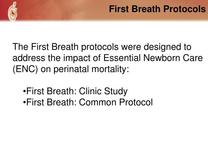 First Breath Protocols