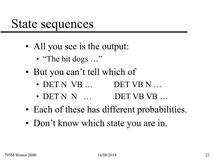 State sequences