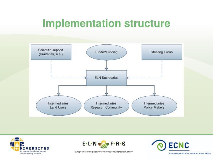 Implementation structure