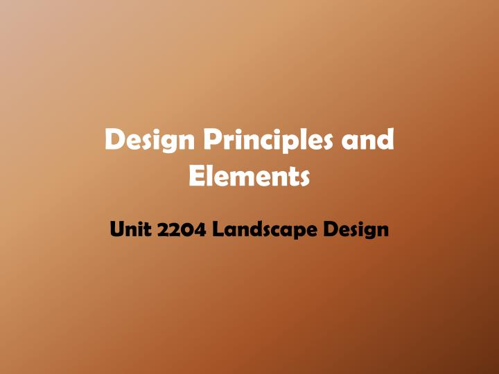 design principles and elements n.