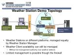 weather station demo topology