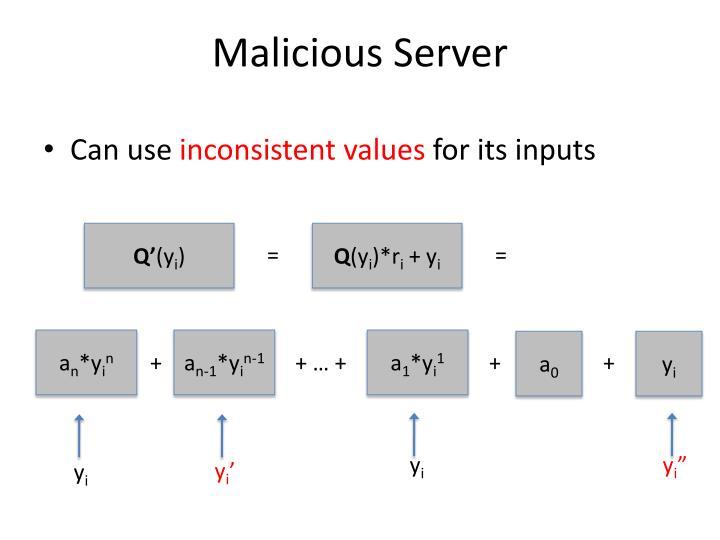 Malicious Server