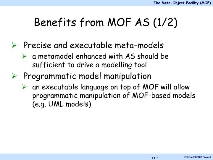 Benefits from MOF AS (1/2)