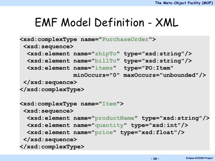 EMF Model Definition - XML
