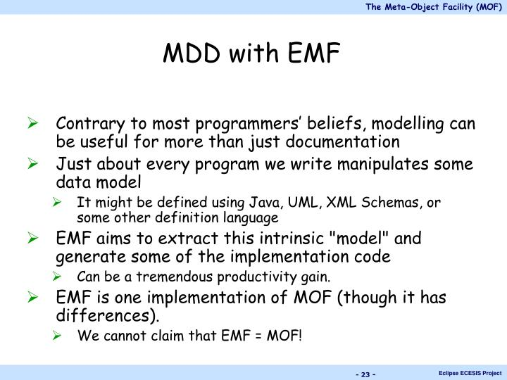 MDD with EMF