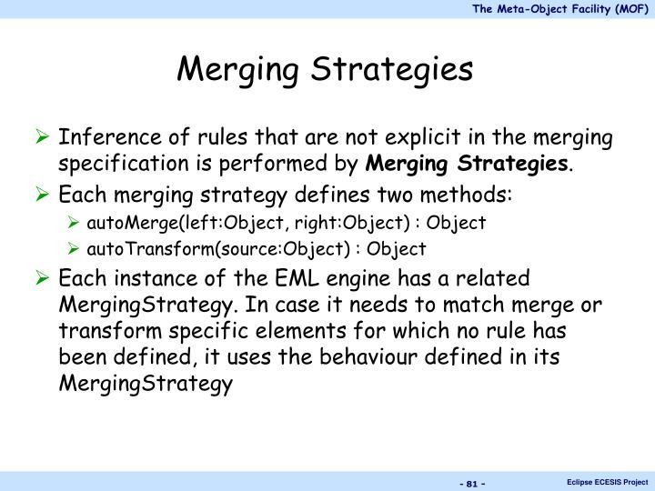 Merging Strategies